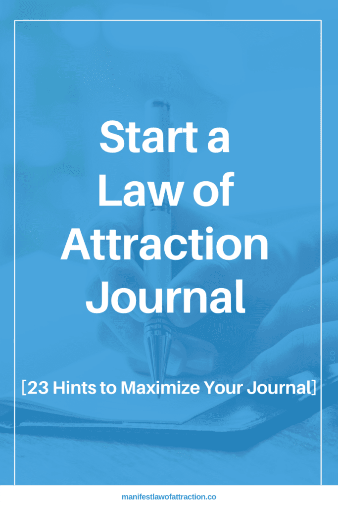 how to start a law of attraction journal